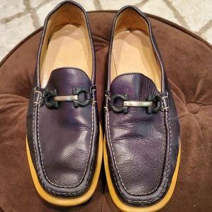 Ferragamo men's comfortable black loafers. Size 11